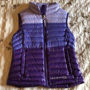 Little girls purple puffy vest